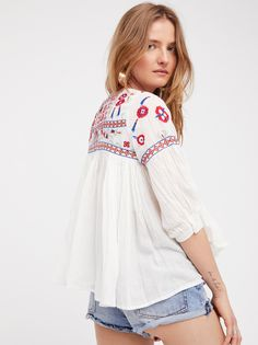Carolina K Cream Embroidered Dress at Free People Clothing Boutique