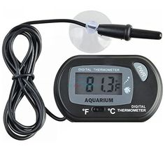 NEW! Digital LCD Aquarium Fish Thermometer Water Terrarium Black FREE Batteries (1 Quantity) * Learn more by visiting the image link.