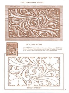 N/A #cravewooddesign Leather Stamps, Leather Art, Custom Leather, Leather Design, Leather Tooling, Tooled Leather, Leather Engraving, Leather Carving, Leather Working Patterns