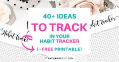 40+ ideas to track in your daily habit tracker + free printable daily habit tracker. | Free printable | Pretty printable | Planner sheet | Goal Planning | Goal setting | Daily Habits | Goal Achieving | Goal getter | Self Development | Personal Development | Make dreams reality | How to achieve goals | SaturdayGift | Saturday gift #SaturdayGift Self Development, Personal Development, Printable Planner, Free Printables, Tracker Free, Planner Sheets, Goal Planning, Achieving Goals, Motivation
