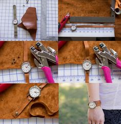 Always Rooney: Minimal Leather Watch Strap | DIY