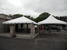 Frame Tent (left) u0026 High Peak Tent (right) & 30x40 Fiesta Frame Tent at The Well Tavern in Coon Rapids MN ...
