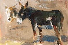 El artista Ribas es un especialista en el retrato de animales. The artist Ribas is a specialist in animal portrait