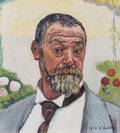 Ferdinand Hodler - Self-Portrait with Roses, 1914