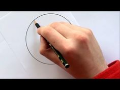 Draw a Perfect Circle Without Any Extra Tools: By pressing your ring finger down in the center of your circle & turning the paper, you can get a much better circle than most of us can draw freehand (though it may take a bit of practice). Drawing Lessons, Drawing Skills, Drawing Techniques, Drawing Tips, Painting & Drawing, Drawing Classes, Pencil Art, Pencil Drawings, Art Drawings