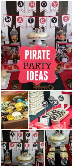 Wow, what an awesome pirate party! Fantastic decorations! See more party planning ideas at CatchMyParty.com!