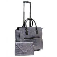 """Cabrelli Women's 15.6"""" Rolling Laptop Bag with Removable Clutch"""