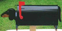 Dachshund mail box. :)