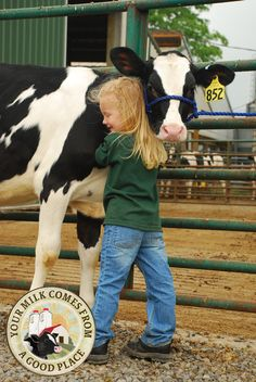"""A farm girl knows there is no better hug than a """"cow hug!"""" Hug someone this weekend!"""
