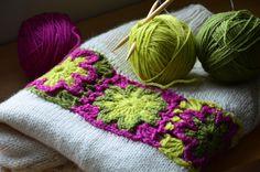 Outstanding Crochet Aplicación para blusa