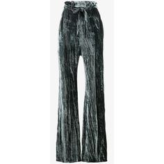 Ann Demeulemeester High Waisted Velvet Trousers ($1,420) ❤ liked on Polyvore featuring pants, highwaist pants, velvet trousers, ann demeulemeester, blue pants and high-waist trousers