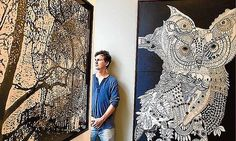 Joshua Yeldham and his work. Susan Sontag, 2d Art, Australian Artists, New Artists, Art Techniques, Artist At Work, Painting & Drawing, Line Art, Contemporary Art