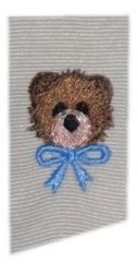 Tiny Teddy Bear Head | Mini Designs | Machine Embroidery Designs | SWAKembroidery.com