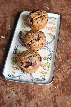 Brombeer-Muffins mit Schokolade