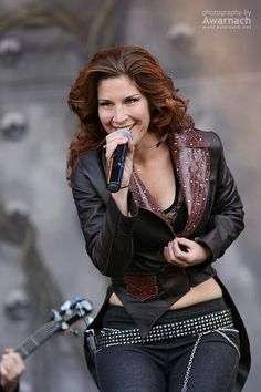 Charlotte Wessels: Front Lady for the band Delain.   Charlotte Wessels: Front Lady for the band Delain.