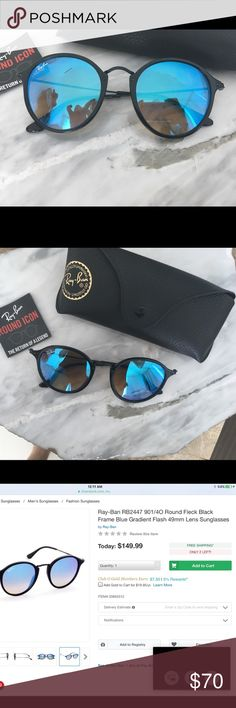 Ray ban round mirror framed sunglasses Never worn, very light and comfortable Accessories Glasses