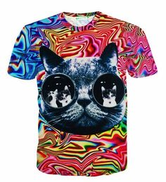 f47cc3f71aaa Raisevern 2017 New Galaxy Space T Shirt Lovely Kitten Cat Eat Taco Pizza  Funny Tops Tee Short Sleeve Summer Shirts Plus Size