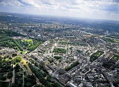 Aerial view of Hyde Park Corner, Belgravia and Buckingham Palace.    Aerial photographs of England by Jason Hawkes - Bing Images