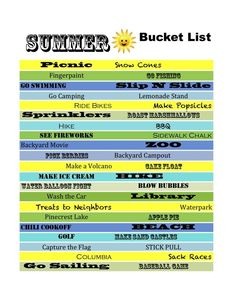 Summer bucketlist... minus the Columbia part.