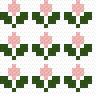 Flower Array Stitch Chart
