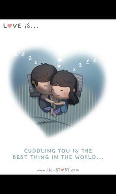 Cuddling you