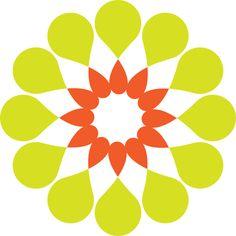 contemporary Flower Clip Art yellow shape circle | Flower Design clip art