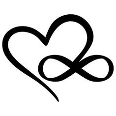 Silhouette Design Store: infinity  heart                                                                                                                                                                                 More