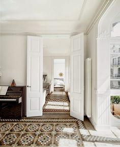 Interiors | mosaico nolla, mosaico, apartament, barcellona, restauro, interiors, case and arredo, interior design, white interiors, living room, Bathrooms, Bedrooms,