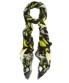 Yellow Butterfly Camouflage Print Scarf, McQ Alexander McQueen. Shop the latest scarves from the McQ Alexander McQueen collection online at Liberty.co.uk