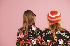 """Printed on the back of sweatshirts from the Gucci Garden capsule collection, """"L'aveugle Par Amour""""."""