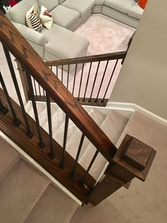 New Rustic Basement Stairs Banisters 33 Ideas Decor, Diy Stairs, Stair Banister, Basement Stairs, Rustic Basement, Stair Storage, Stair Lighting Diy, Home Decor, Diy Stair Railing