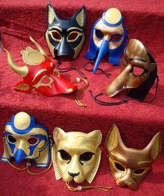 Egyptian Pantheon Mask Group by *merimask