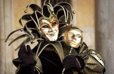 Harlequin costume at Venice Carnevale