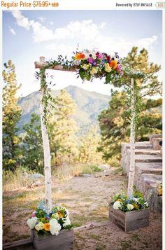 Sale Three Piece Wedding Arch/Arbor - Chuppah /Birch Poles