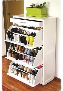 48 The Best Shoes Storage Concept for Ladies - Home-dsgn Space Saving Furniture, Home Furniture, Furniture Design, Shoe Storage Cabinet, Shoe Closet, Home Organization, Shoe Rack, Storage Spaces, Room Decor