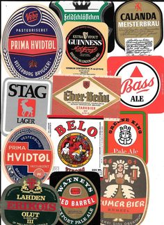 Beer Labels from around the world Lot # 2 Christmas Beer, Coaster Art, Label Shapes, Beer Coasters, Beer Labels, Guinness, Brewing, Around The Worlds, Bottle
