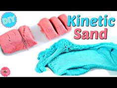 "DIY KINETIC SAND!  JUST LIKE REAL KINETIC SAND!  AMAZING SAND ""SLIME""! - YouTube"