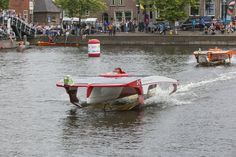 DC Solar Team during the Dutch Solar Challenge 2014. They raced in the V-20 class at the world cup for solar powered boats.