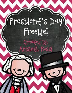 A few fun activities to use on President's Day for Abraham Lincoln and George Washington! This literacy freebie includes timelines, graphic organizers, and comparison activities.