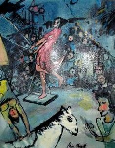 Circo di Marc Chagall Marc Chagall, Artist Chagall, Chagall Paintings, Picasso Paintings, Art Analysis, Circus Art, Circus Tents, Paintings I Love, Indian Paintings