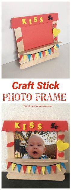 Craft stick frame
