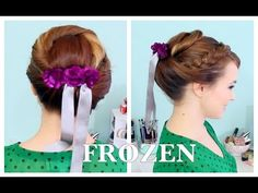 Anna& Coronation Updo from FROZEN hair tutorial - this is actually a really. Disney Hairstyles, Disney Princess Hairstyles, Pretty Hairstyles, Girl Hairstyles, Updo Hairstyle, Wedding Hairstyles, Anna Frozen, Disney Frozen, Frozen Princess
