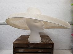 Sample sale -Extra large saucer with an off set crown with a lip in Ivory - Millinery supplies Turquoise Flowers, Yellow Flowers, Millinery Supplies, Red Button, Button Flowers, Hair Ornaments, Haberdashery, Magenta, Ivory
