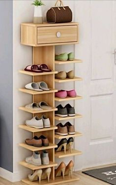 15 shoe storage ideas that you'll love - Creative Storage Diy Home Decor Projects, Home Improvement Projects, Home Decor Items, Wood Projects, Decor Ideas, Woodworking Projects, Diy Ideas, Woodworking Garage, Popular Woodworking