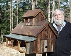 THOM BRUSO'S ARTISTIC BIRDHOUSES - Maple Sugarhouse for sale !
