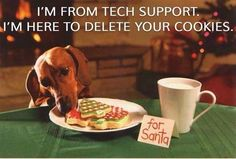 True..I'm from tech support here to delete your cookies