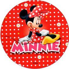disco cialda per decorazioni torta festa a tema minnie 02 - Party e Balloon - Addobbi Feste per Bambini - Matrimoni - Lanterne Speciali