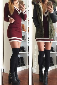 V-neckline Sweater Dress (more colors) – Colors of Aurora