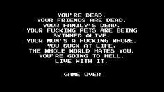 Best game over screen ever
