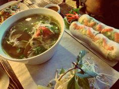 Beef Brisket Pho and Vietnamese Ham Salad Rolls - Cafe Phin. #Vancouver